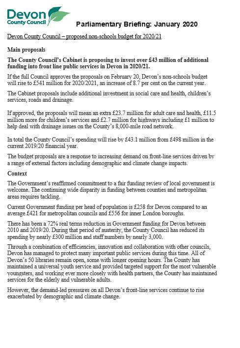 DCC Parlimentary Briefing Jan 2020 Page 1