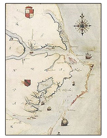 Roanoke Map circa. 1584