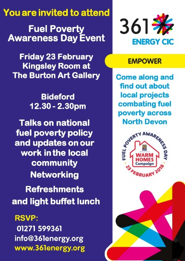 Fuel Poverty Awareness Day event