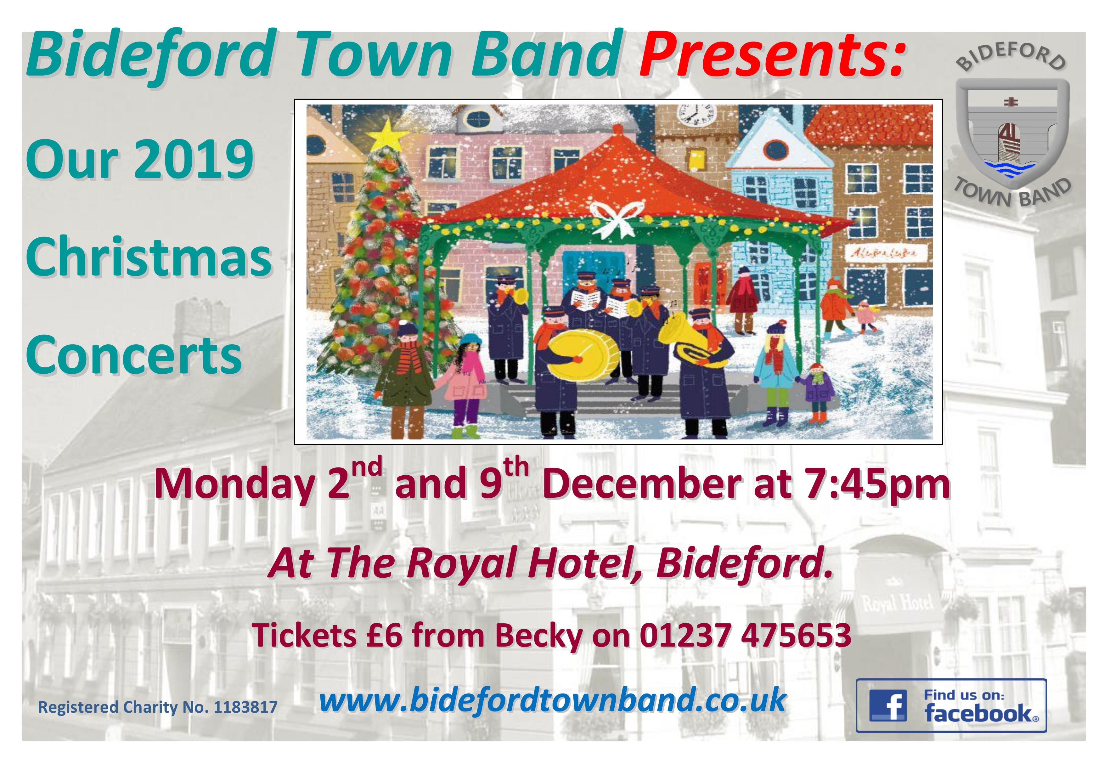 Bideford Town Band Christmas Concerts 2019