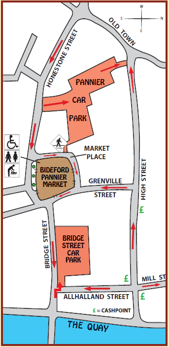 Map showing the location of the Pannier Market