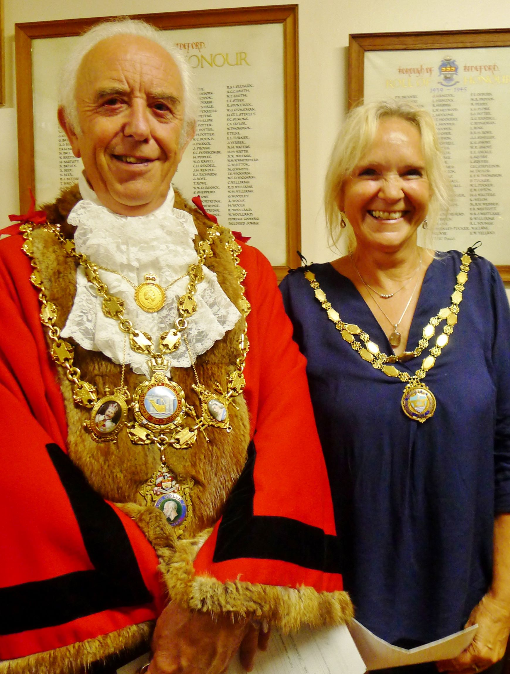 Mayor and Mayoress Mayor and Mayoress of Bideford - Cllr Peter Christie and Ms Annette Goodwin
