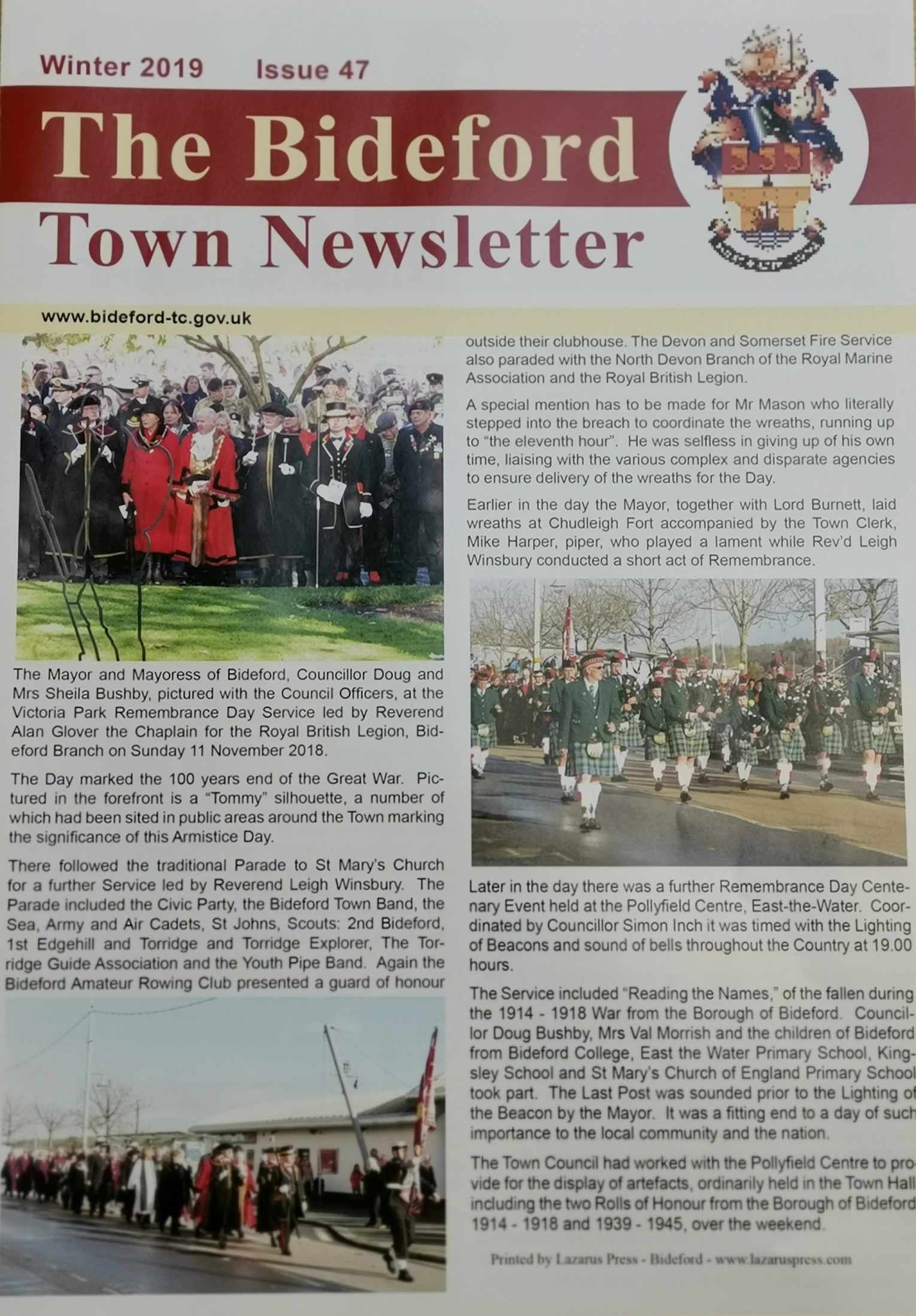 Front cover newsletter winter 2019