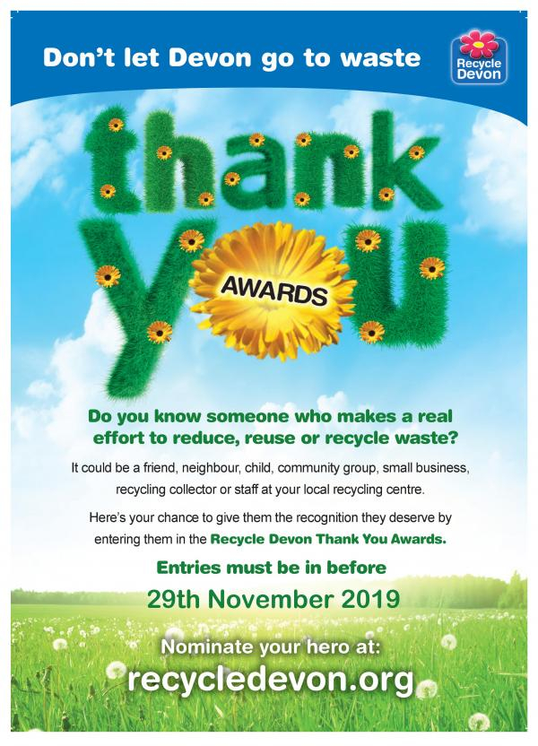 Recycle Devon Thank You Awards